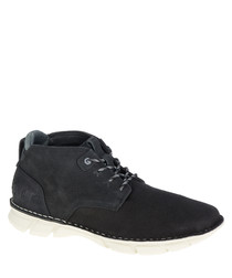 Men's Almanac black mesh ankle boots