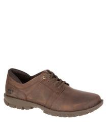 Men's Caden brown leather lace-up shoes