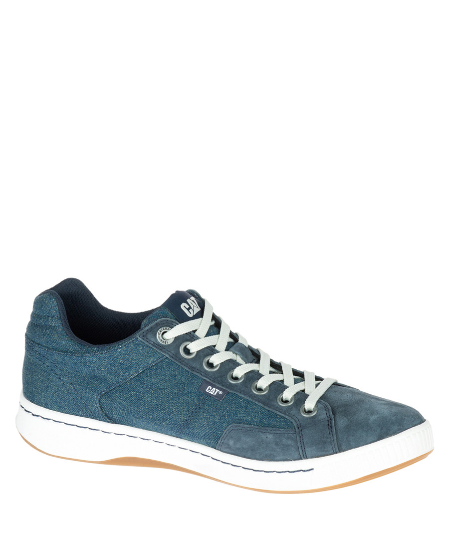 Men's Cadre navy lace-up sneakers Sale - Caterpillar