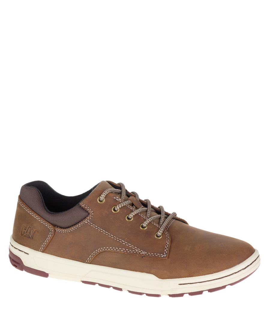 Men's Colfax beige leather sneakers Sale - Caterpillar