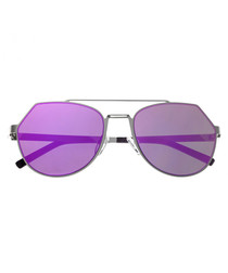 Hadley purple mirror edge sunglasses