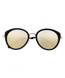 Sasha black & gold mirror sunglasses