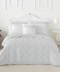 Nordicos white cotton s.king duvet set