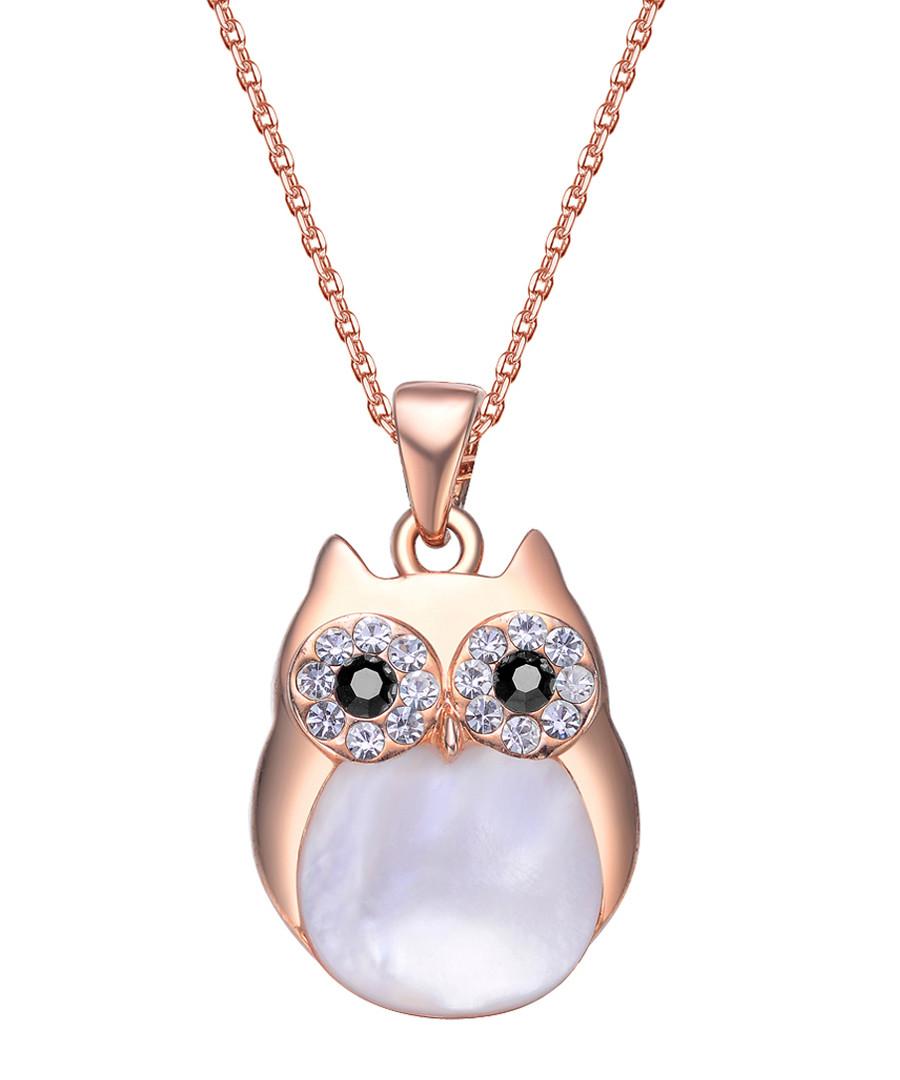 Professor Owl rose gold-tone necklace Sale - mestige
