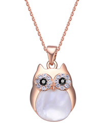 Professor Owl rose gold-tone necklace