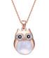 Professor Owl rose gold-tone necklace Sale - mestige Sale