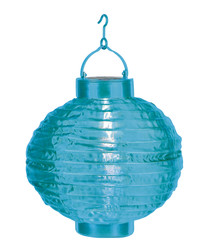 Blue rice paper ball lantern 22cm