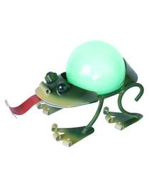 Green metal LED frog lamp