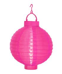 Pink rice paper ball lantern 22cm