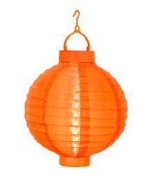 Orange rice paper ball lantern 22cm