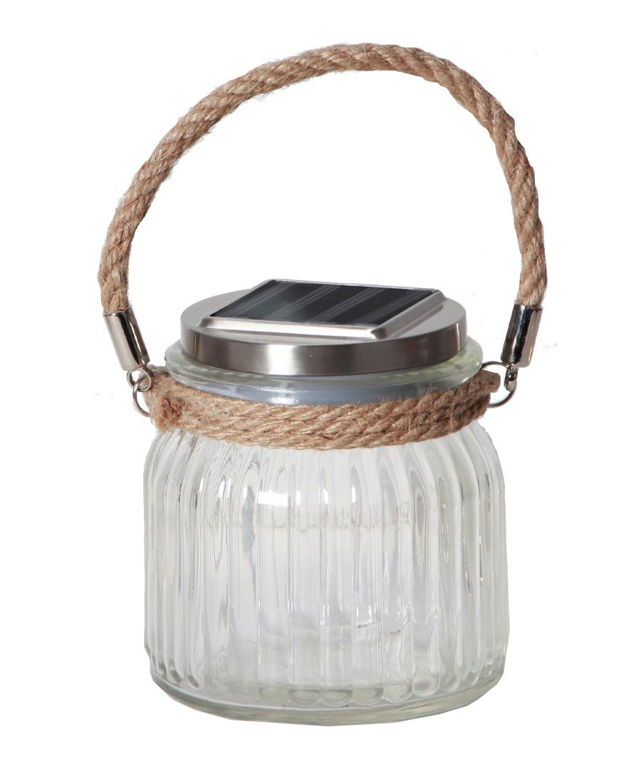 Jam Jar clear glass LED lantern Sale - solar lighting