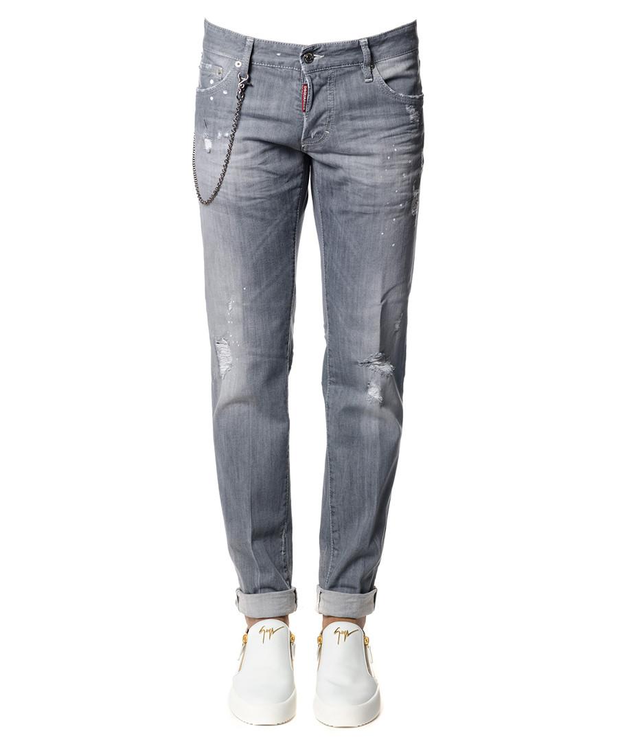 Grey cotton blend stone wash jeans Sale - dsquared2