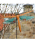 Orange metal dragonfly garden ornament Sale - adobe Sale
