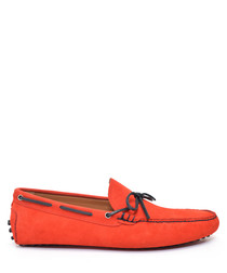 Men's Red suede moccasins