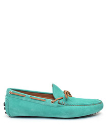 Men's Green suede moccasins
