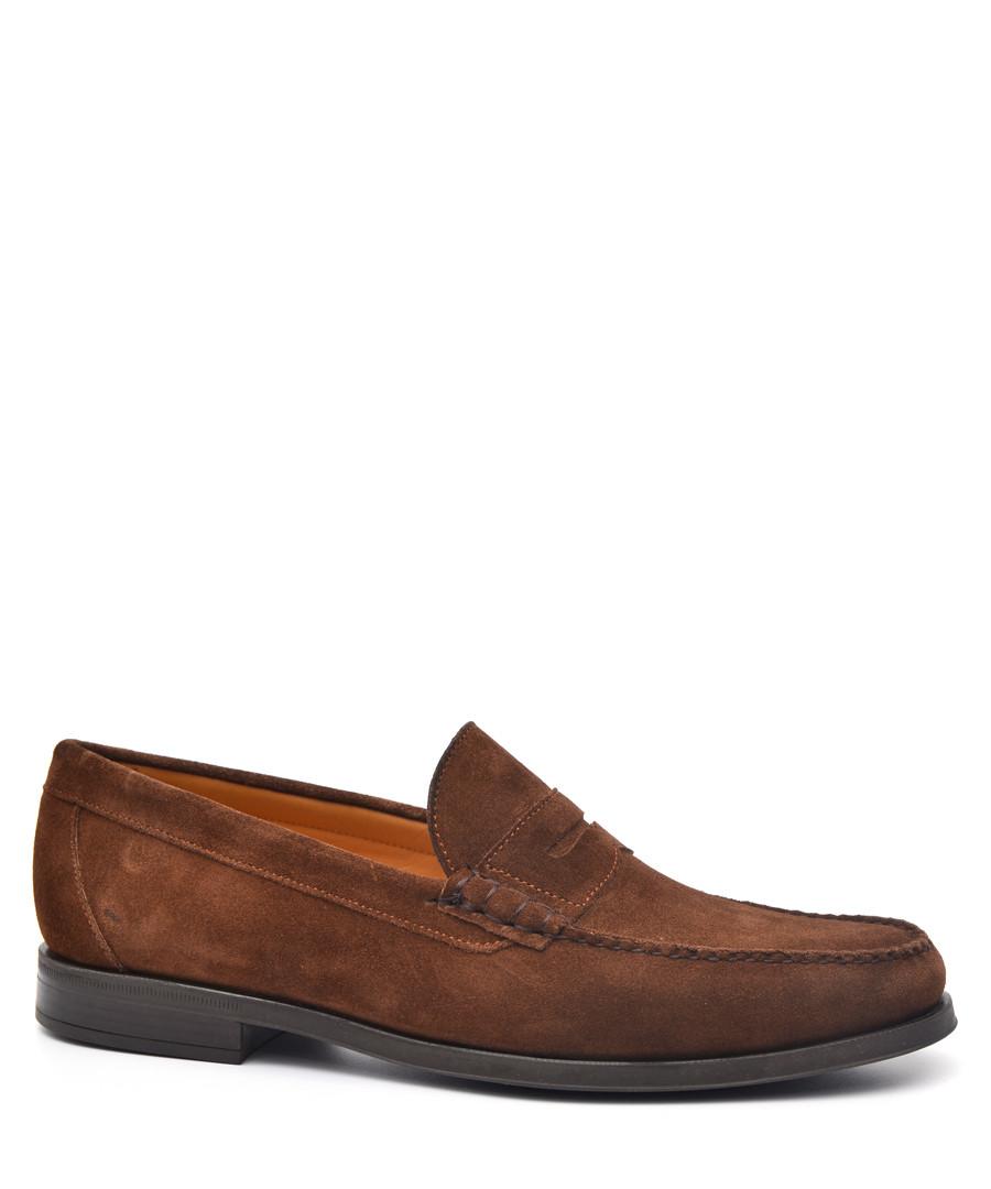 Men's Brown suede loafers Sale - moka saint