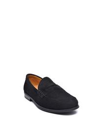 Men's Black suede loafers