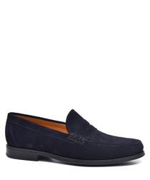 Men's Blue suede loafers