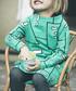 Girl's London green cotton print dress Sale - WHERE IS MARLO Sale