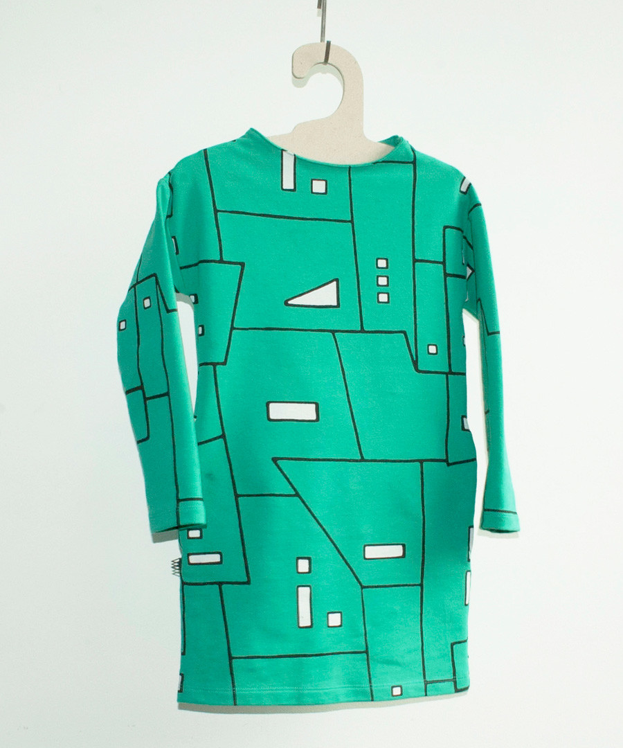 Girl's London green cotton print dress Sale - WHERE IS MARLO