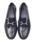 Men's Blue leather horsebit loafers Sale - moka saint Sale