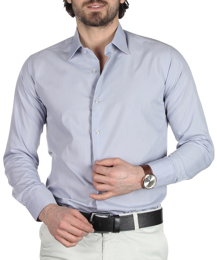 Light grey cotton blend shirt Sale - Brango