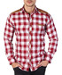 Red & white checked button-down shirt Sale - Brango Sale