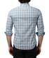 Turquoise pure cotton checked shirt Sale - Brango Sale
