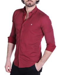 Bordeaux cotton blend dot shirt