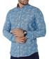 Turquoise pure cotton print shirt Sale - Brango Sale