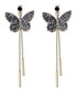 Gold-tone & crystal butterfly earrings Sale - caromay Sale
