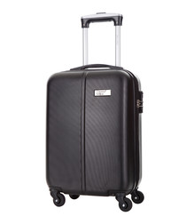 Wild black spinner suitcase 46cm