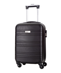Child black spinner suitcase 46cm