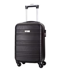 Child black spinner suitcase 46cm