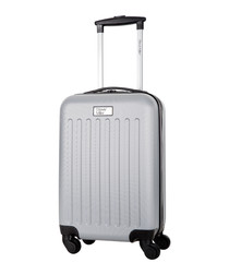 Young silver spinner suitcase 45cm