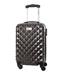 Heart grey spinner suitcase 46cm