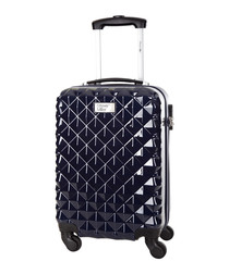 Heart blue spinner suitcase 46cm