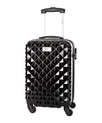 Heart black spinner suitcase 46cm