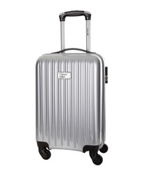 Eagle silver spinner suitcase 46cm