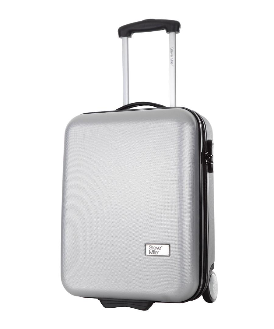 Hover silver upright suitcase 48cm Sale - steve miller