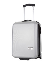 Hover silver upright suitcase 48cm