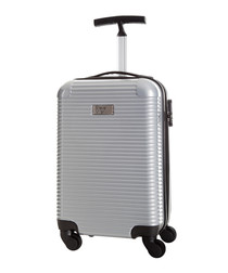 Journey silver spinner suitcase 45cm