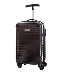 Journey black spinner suitcase 45cm