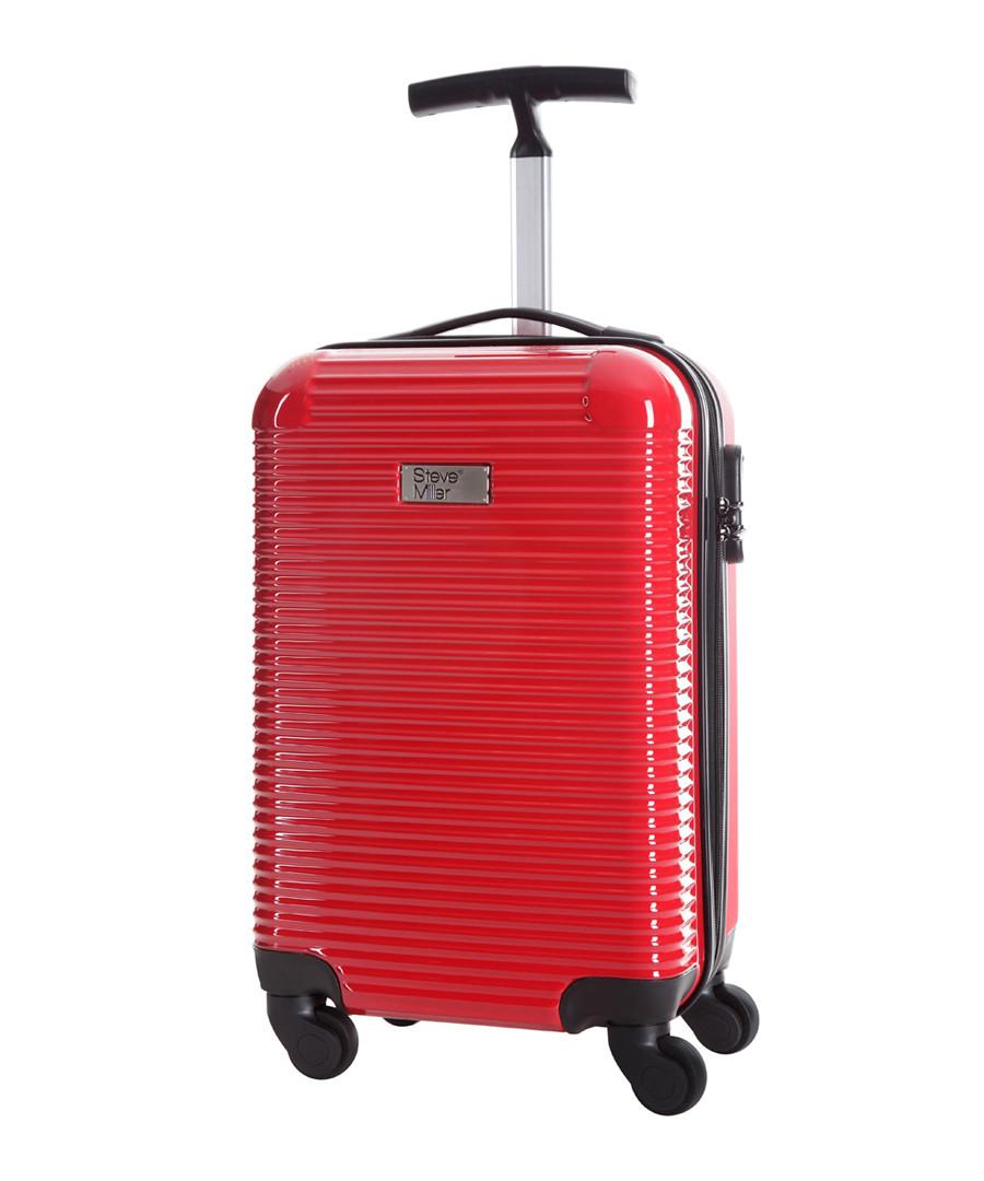 Journey red spinner suitcase 45cm Sale - steve miller
