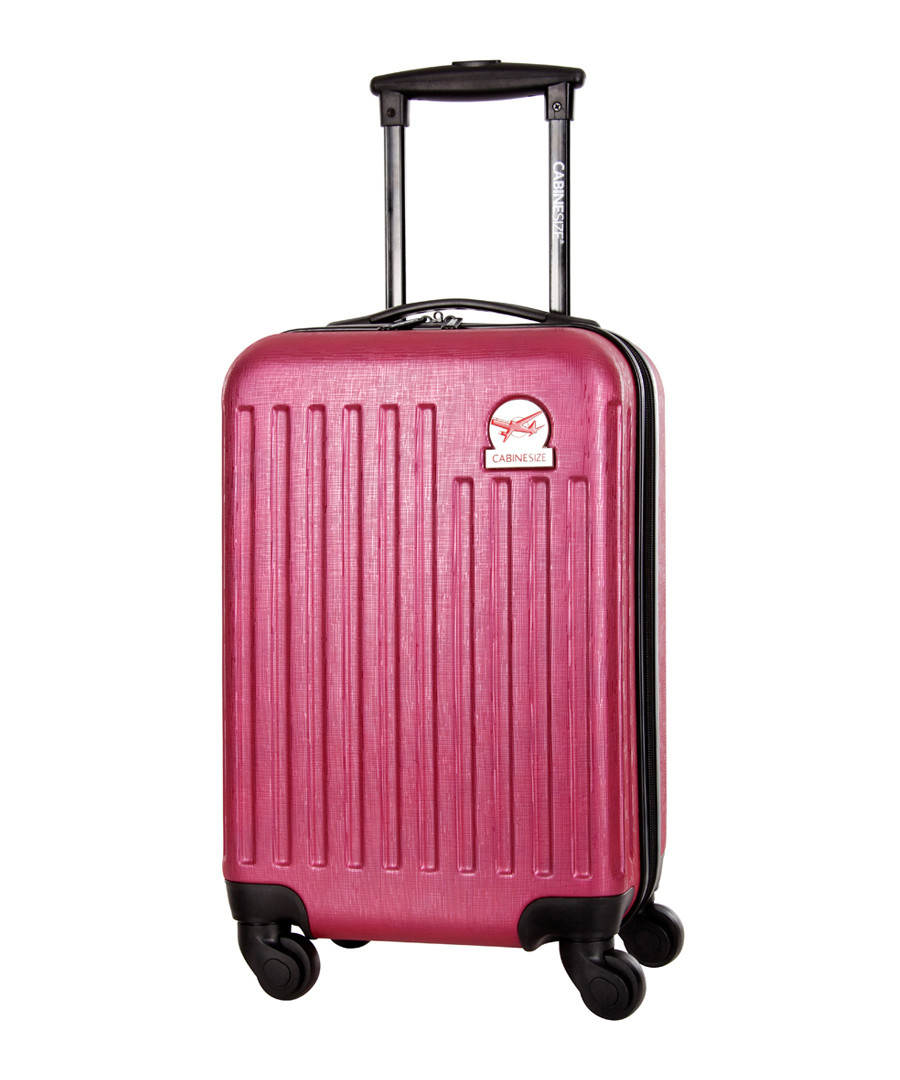 Arial fuchsia spinner suitcase 45cm Sale - cabine size