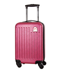 Arial fuchsia spinner suitcase 45cm