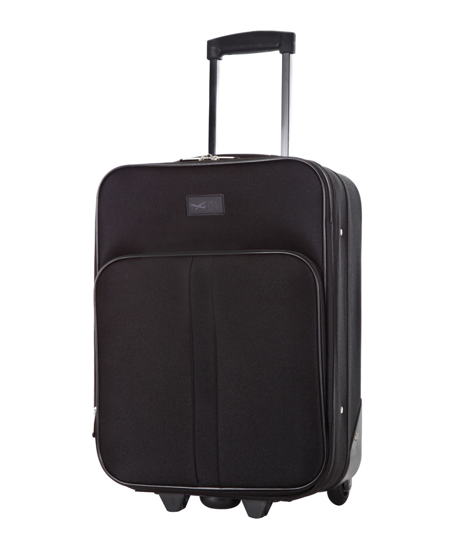 Amallia black upright suitcase 48cm Sale - cabine size