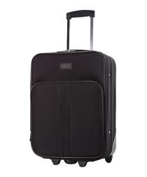 Amallia black upright suitcase 48cm
