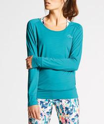 Overt blue long sleeve top