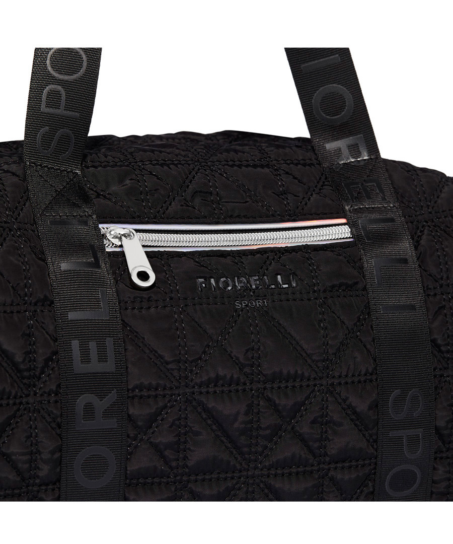 188f716731f0 ... Flash black quilted duffle bag Sale - Fiorelli
